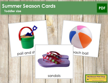 Summer Season Cards  - Toddler