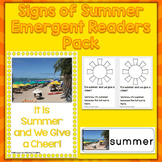 Summer Season Emergent Readers, Word Wall Cards, & Printable Page