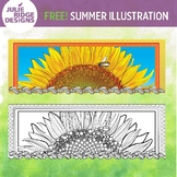 Summer Season Free Horizontal Illustration
