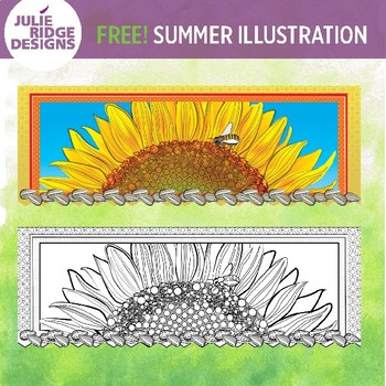 Summer Season Free Horizontal Illustration