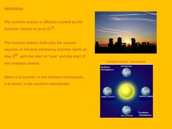 Summer Season Power Point - Holidays Weather Nature Pictures 14 slides