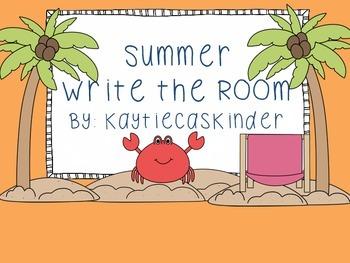 Summer Season Write the Room