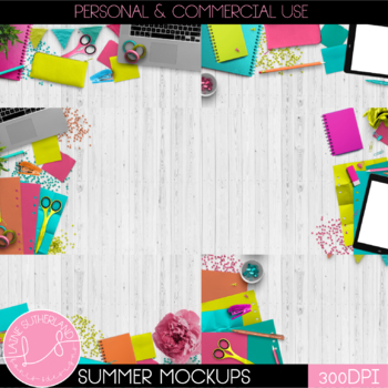 Summer Seasonal Scenes Styled Mockups
