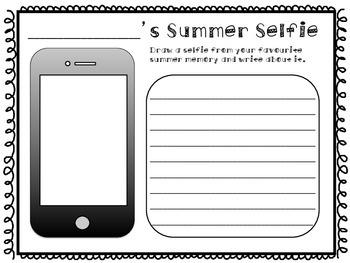 Summer Selfie Activity
