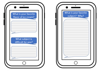 Summer Selfie Cell Phone Activity - Back to School Creative Writing