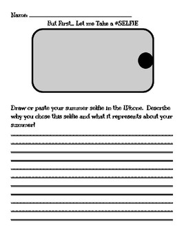summer selfie template by marie b teachers pay teachers