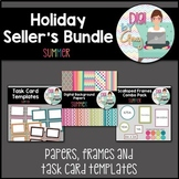 Summer Seller's clipart Bundle - papers, frames, and task