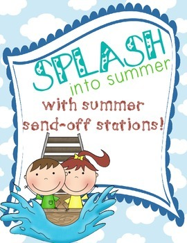 End of the Year - Last Day of School Summer Send-Off Stations with Memory Book