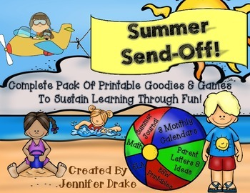 Summer Send Off!  Summer Learning Packet of Games, Printab
