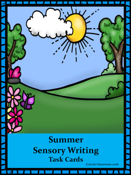 Summer Sensory Writing Task Cards