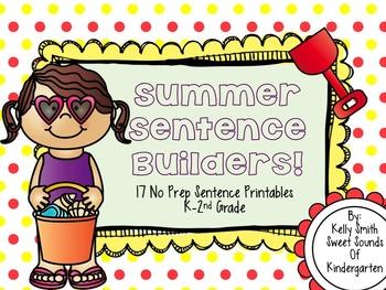 Summer Sentence Builders!