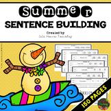 Kindergarten Sentence Building - First Grade Sentence Building Worksheets SUMMER