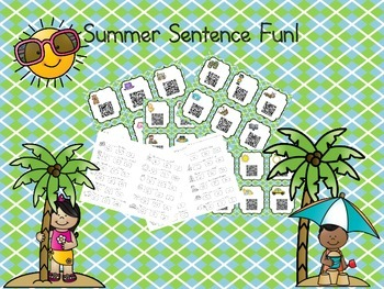 Summer Sentence Fun with QR Codes