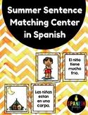 Summer Sentence Matching Center in Spanish Centros emparej