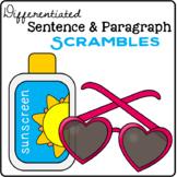 Summer Sentence & Paragraph Scrambles