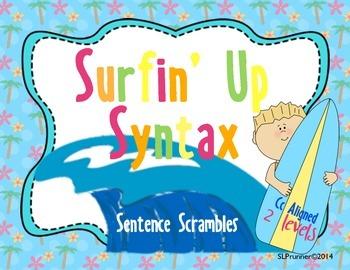Summer Sentence Scramble! 2 levels