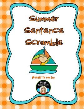 Summer Sentence Scramble