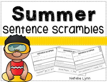 Summer Sentence Scrambles