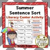 Summer Activities | Writing Center Activity | Literacy Centers | Sentence Sort
