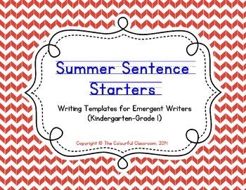 Summer Sentence Starters