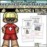 Summer Sentence Structure - Naming and Telling Parts of a