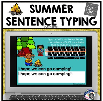 Summer Sentence Typing Task Cards - Play on Internet or Print