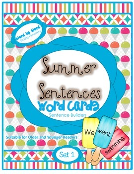 Summer Build-a-Sentence Word Cards