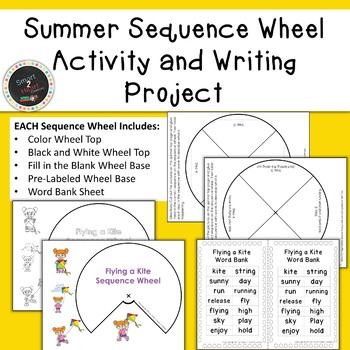 Summer Sequence Wheel Activity and Writing Project (Center)