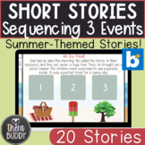 Summer Sequencing Short Stories 3 Events BOOM Cards No Pri