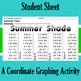 Summer Shade - A Summer Time Coordinate Graphing Activity