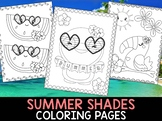 Summer Shades Coloring Pages - The Crayon Crowd