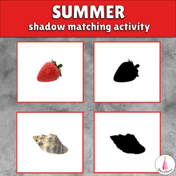 Summer Shadow Matching Activity