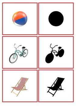 Summer Visual Discrimination Activity - Shadow Matching