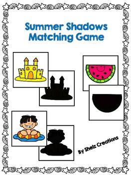 Summer Shadows Matching Game