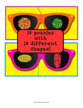 Summer Shape Matching Puzzles with Fun Sunglasses Puzzles!