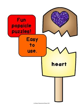 Summer Shape Puzzles Featuring a Popsicle Theme with 18 Different Shapes