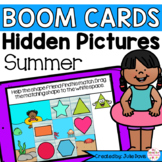 Summer Shapes Math Centers | Digital Game Boom Cards Dista
