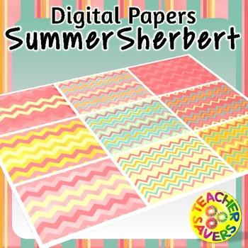 Summer Sherbert Digital Papers