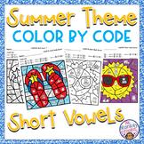 Summer Short Vowel Sounds Color By Code