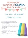 Summer Sidewalk Chalk Gift and Mindful Activity