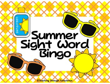 Summer Sight Word Bingo