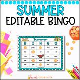 Editable Summer Sight Word Bingo