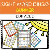 Summer: Sight Word Bingo - Editable