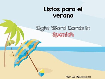 Summer Sight Word Cards in Spanish