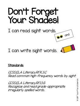 Summer Sight Word Centers