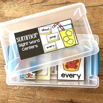 Summer Sight Word Centers