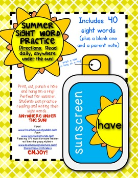 Summer {Sight Word} Fun: Practice Anywhere Under the Sun!
