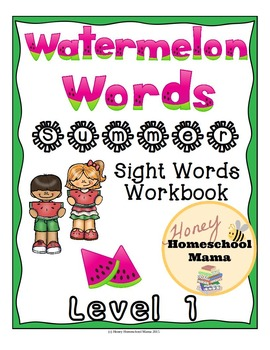 Summer Sight Word Practice! Dolch Pre-Primer Words in a Watermelon Theme