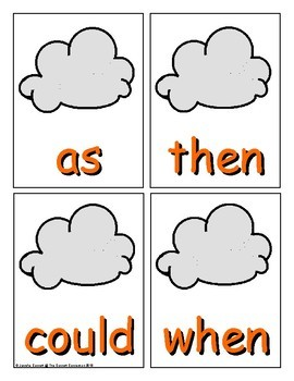 Summer Sight Word Recognition Center or Whole Group Game for First Grade