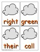 Summer Sight Word Recognition Center or Whole Group Game for Second Grade